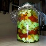 Peppers and Cauliflower Recipe in Vinegar (Mama Flori's Recipe)