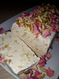 Vanilla Ice Cream With Nuts, Nougat Ice Cream With Nuts, nougat ice cream recipe, homemade vanilla ice cream recipes