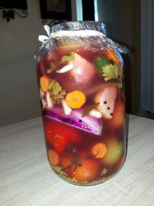 How to prepare pickled green tomatoes, recipe of tomato pickle,winter pickled green tomatoes salad