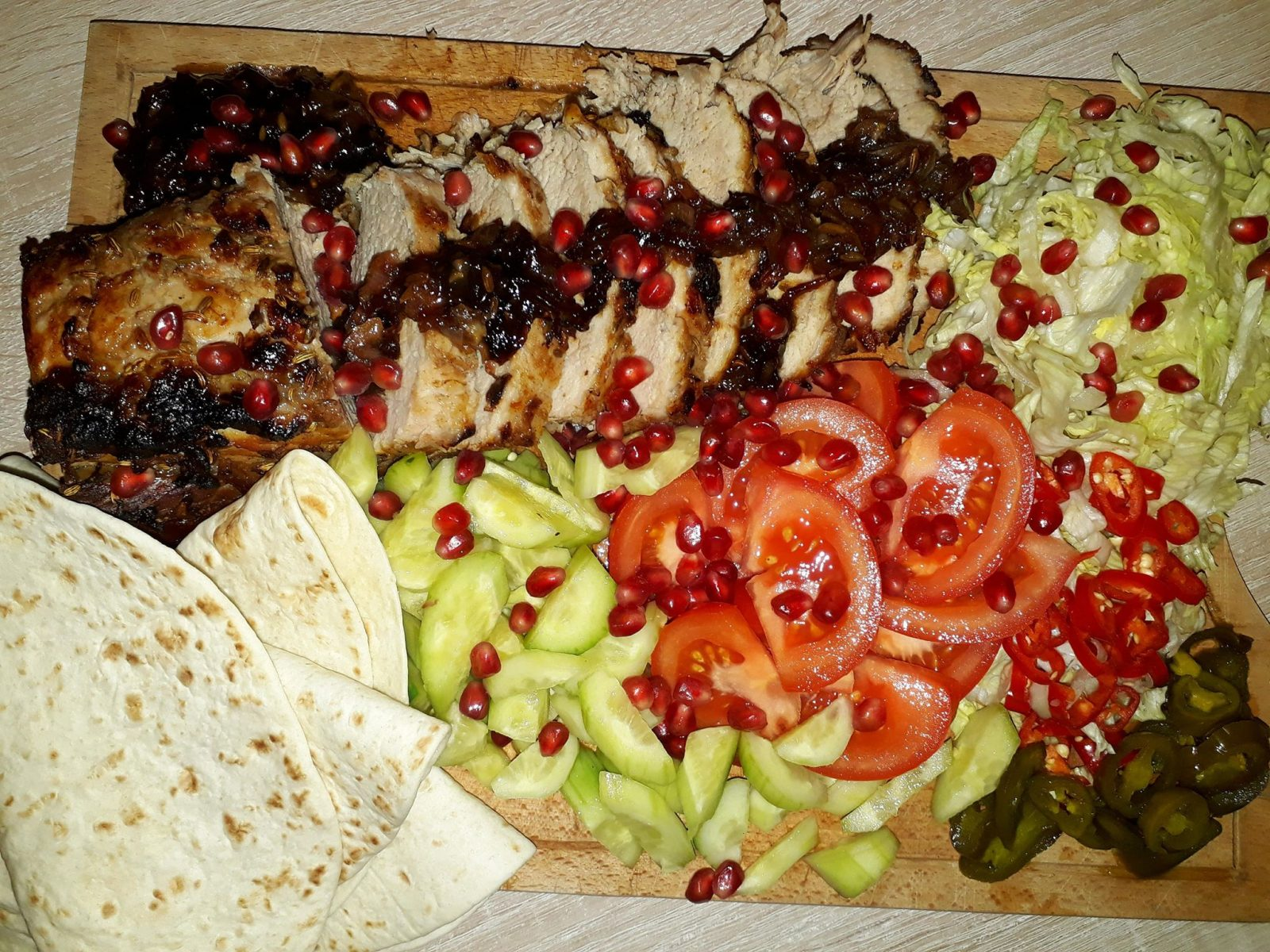 Posh pork kebab jamie olivers recipe maglianos comfort food as jamie says this is my dressed up version of a good old kebab beautiful roast pork sweet onions and all the extra trimmings people go mad for it forumfinder Image collections